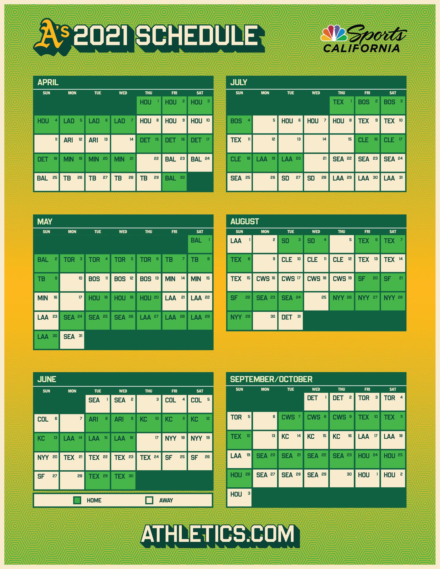 Calendrier Bal Country 2021 Oakland A's release 2021 schedule   Athletics Nation