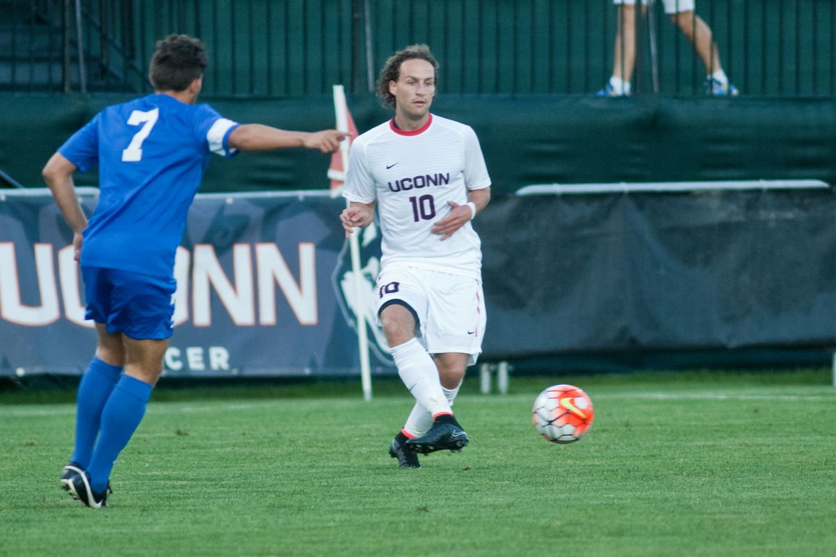 Sebastian Brems made his UConn debut in Friday's 0-0 draw against St. Francis (NY).
