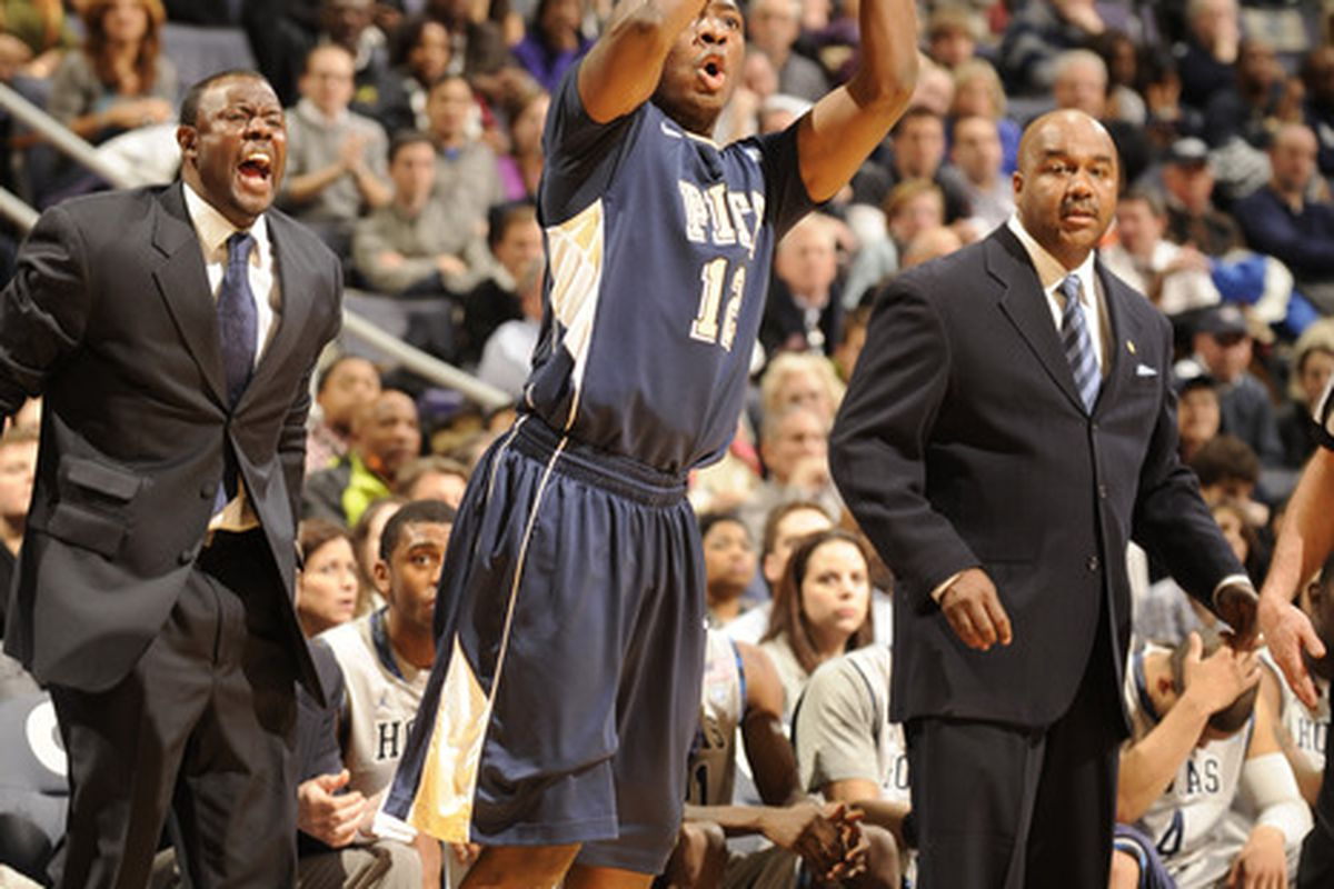 Pitt fans will have to deal without Gibbs' trademark threes for a whlie (Photo by Mitchell LaytonGetty Images)