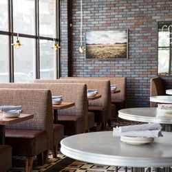 """AF+B, with its comfy booths and big windows, is the perfect way to start your Saturday. Image via <a href=http://www.afandbfortworth.com/"""">AF+B</a>"""