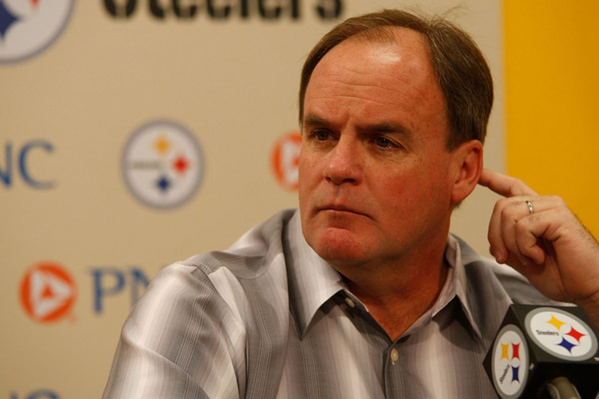 Steelers Director of Football Operations Kevin Colbert can't hear you over the sound of his awesome.