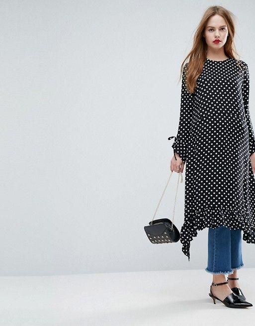 ASOS Soft Trapeze Midi Dress