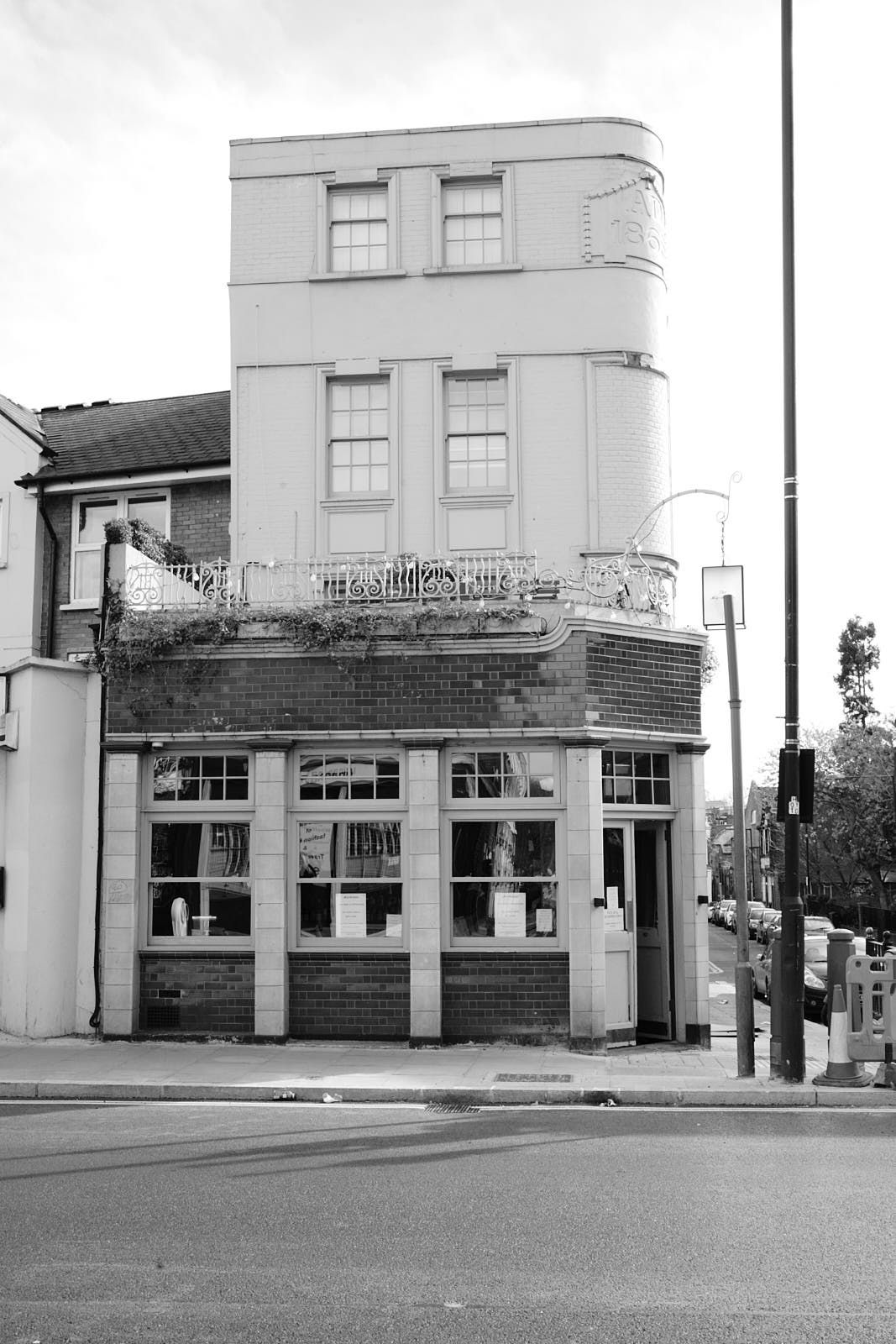 The exterior of the Marksman pub on Hackney Road, closed during coronavirus lockdown