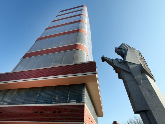 The 15-story, Frank Lloyd Wright-designed SC Johnson and Son Research Tower, in Racine, Wis., was completed in 1950. | USA Today Network