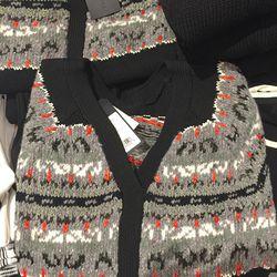 Black Adelina split-back pullover, $135