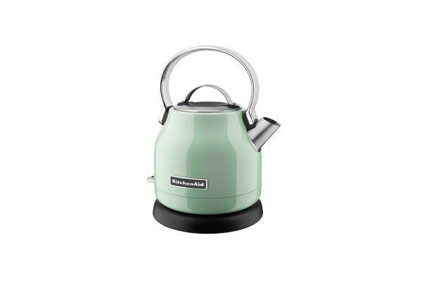 A green KitchenAid electric kettle