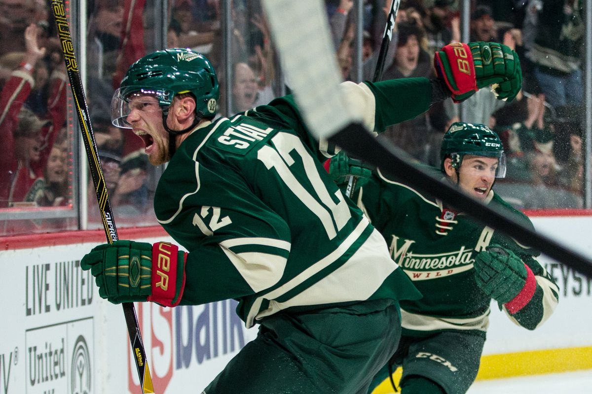 promo code f60ee c9d4f Eric Staal starts the scoring for the Wild - Hockey Wilderness