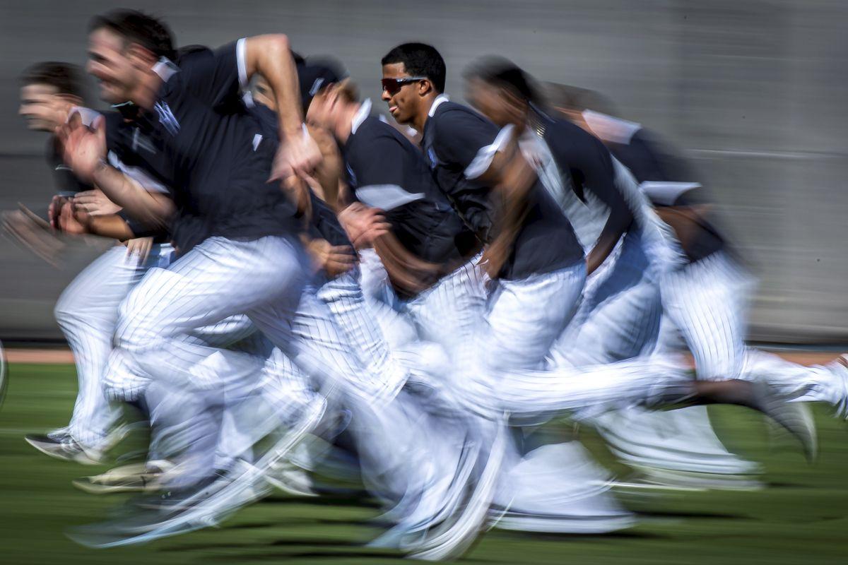 New York Yankees Pitchers Run at Spring Training