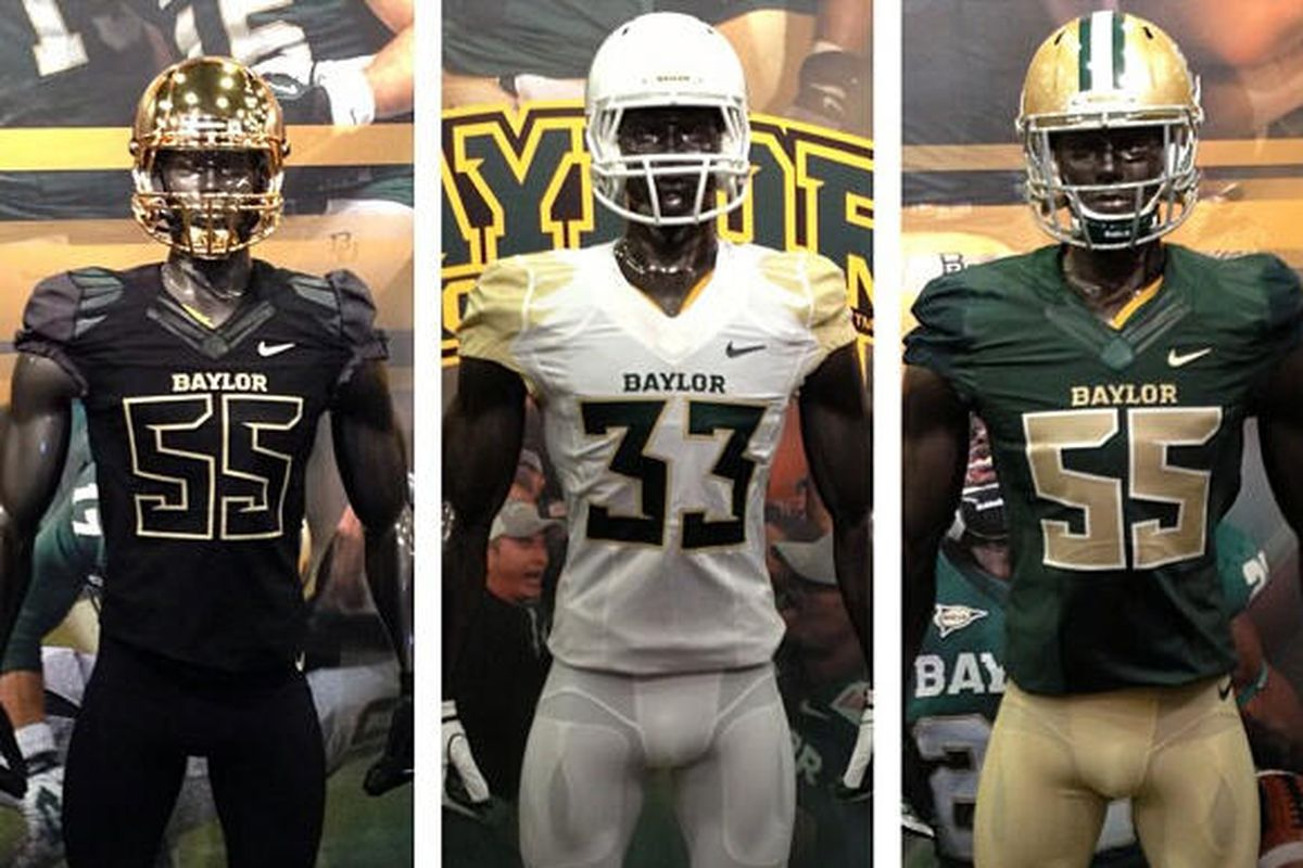 Baylor Football debuts all-new Nike uniforms in white 3211a35d7