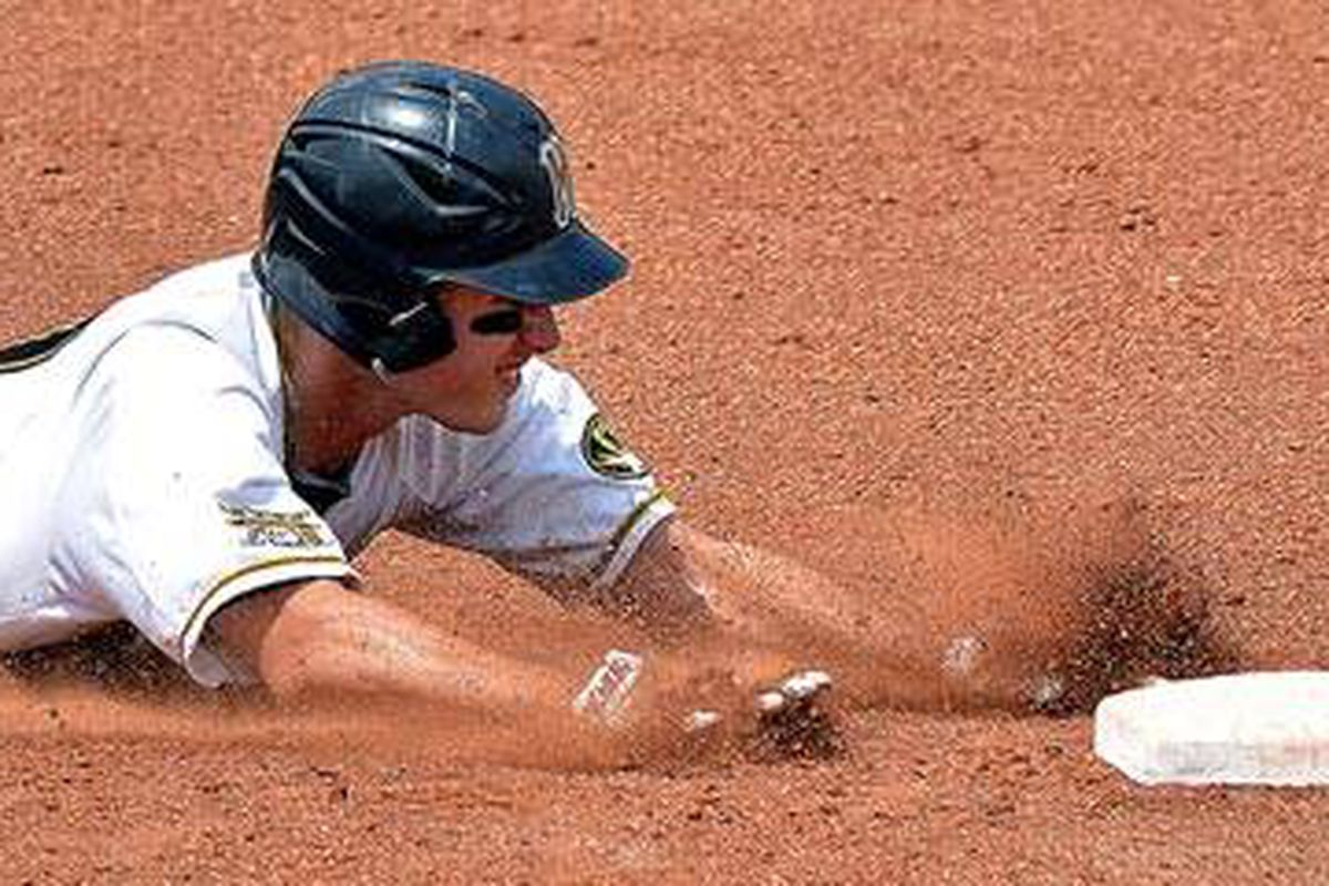 Missouri defeats Kansas to advance to the cham[pionship final of the Big 12 Baseball Tournament