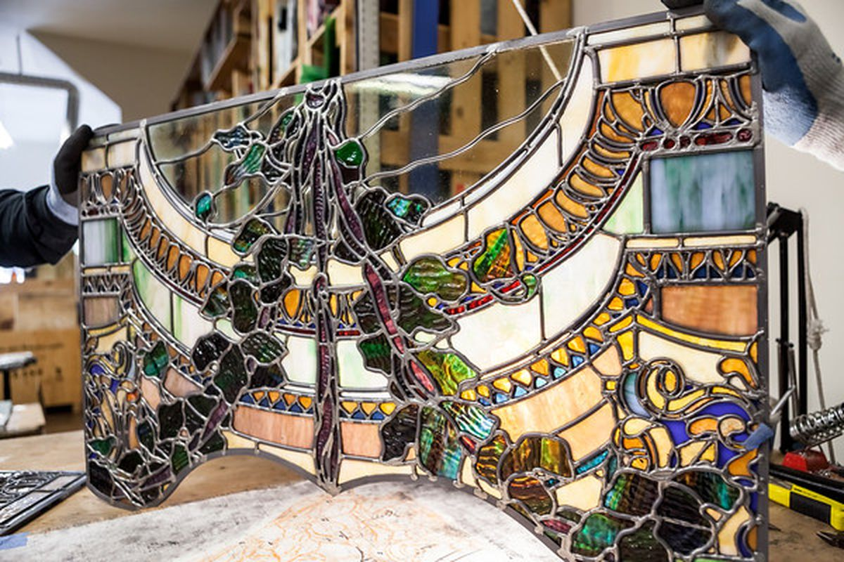 """John Lenox uses Old World techniques to restore old stained glass windows and create new ones; photos via <a href=""""http://www.patriciachangphotography.com"""">Patricia Chang</a>"""