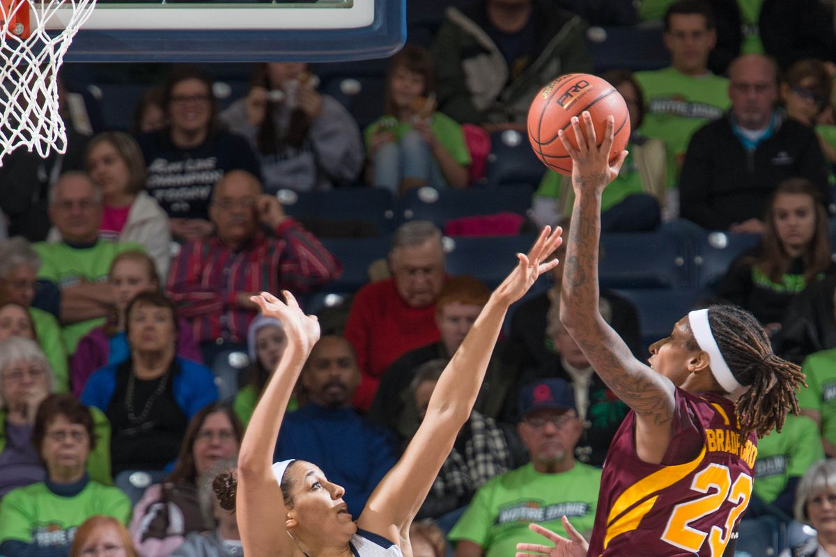 Crystal Bradford wins one of our awards for WBB player of the week.