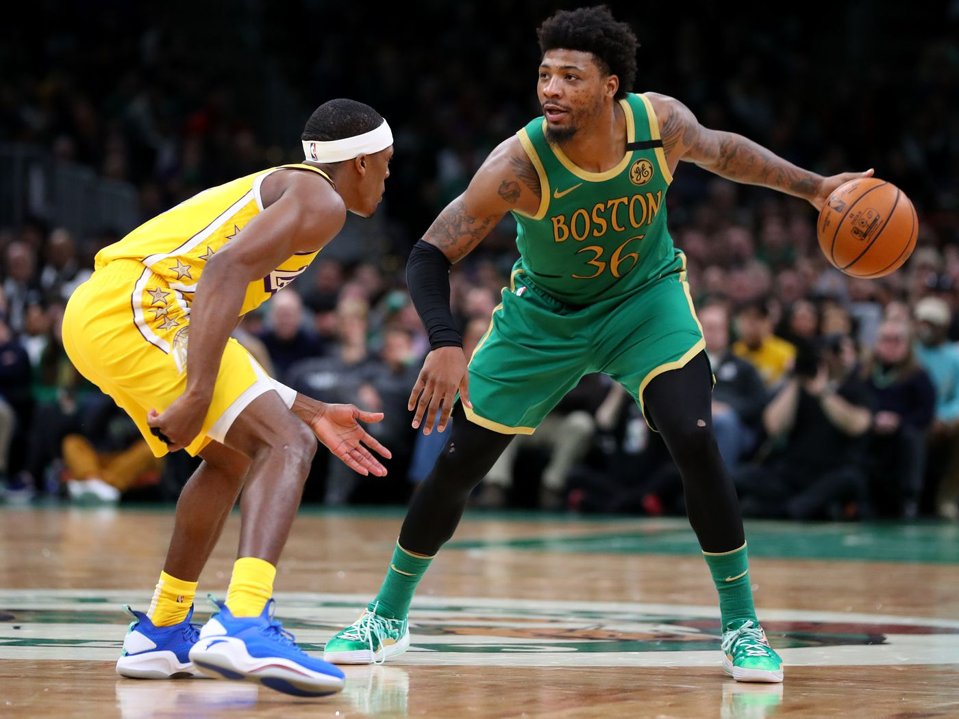 Lakers Highlights >> Oklahka State Cowboys News 1 21 Marcus Smart S Insane Pass