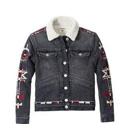 Pile-lined Denim Jacket, $59.95