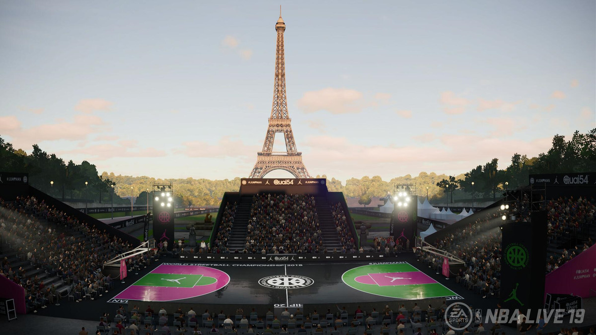 NBA Live 19 - Paris court in The Streets: World Tour