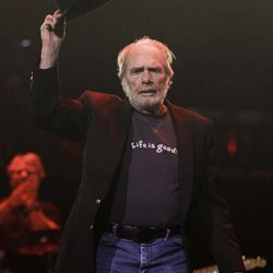 Merle Haggard acknowledges an ovation as he takes the stage during the All for the Hall concert on Tuesday, April 10, 2012, in Nashville, Tenn. The concert is a benefit for the Country Music Hall of Fame and Museum.