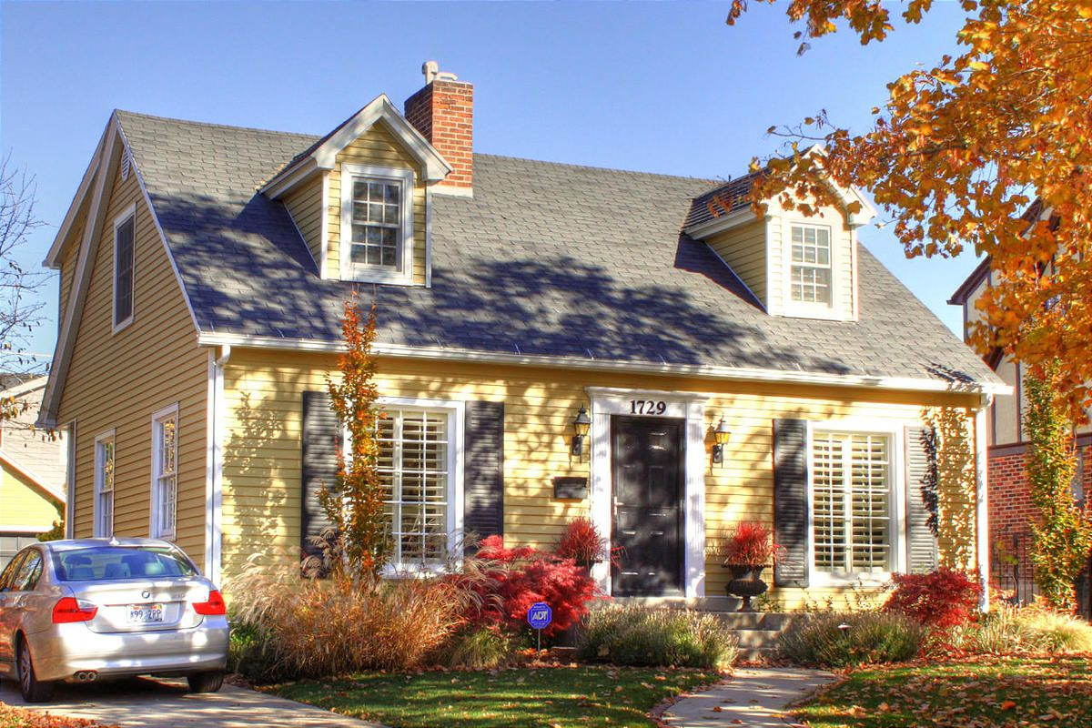 The Cape Cod is typically seen as a cozy cottage-style home.