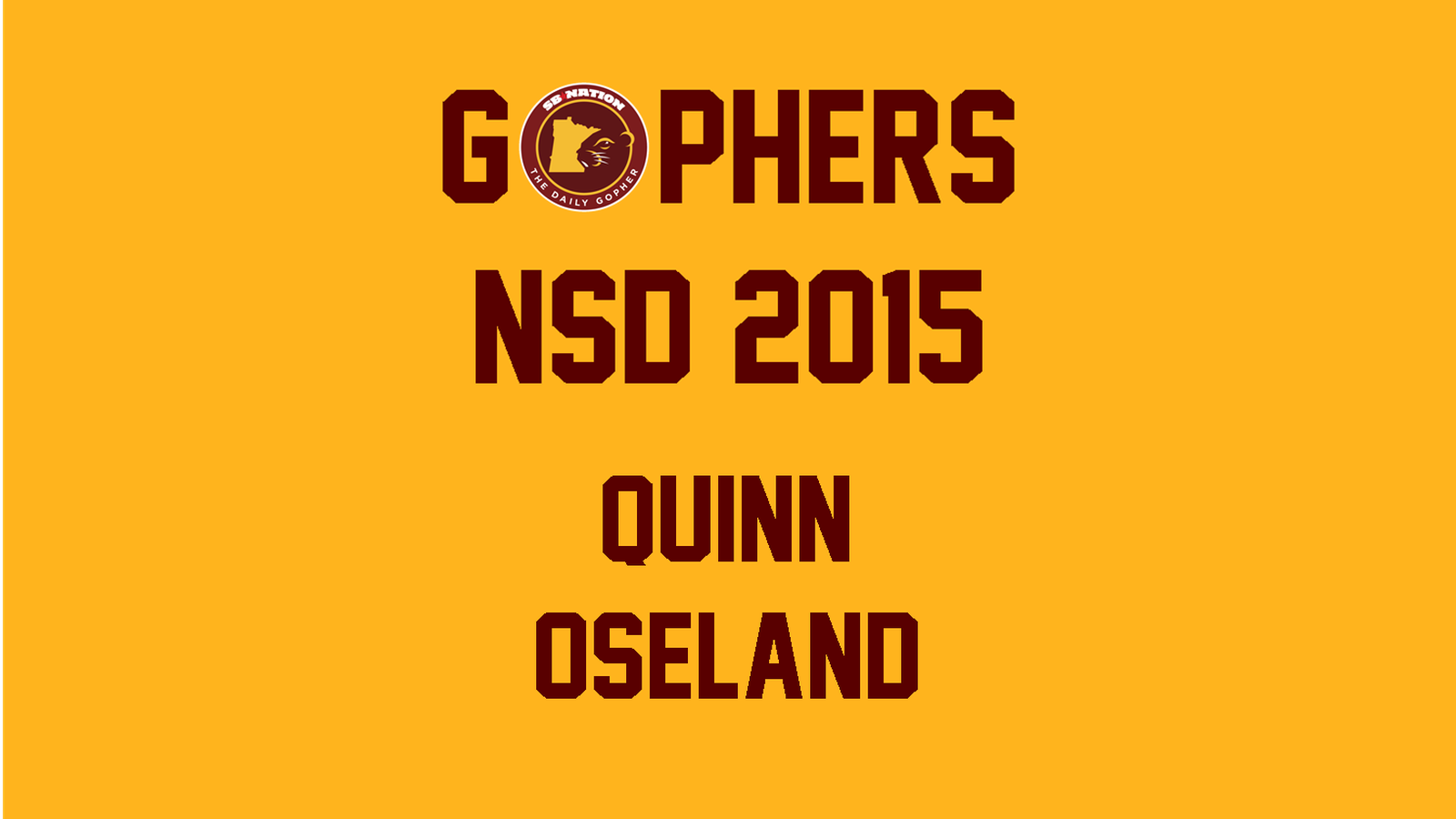 Minnesota Football Recruiting: Quinn Oseland signs with ...