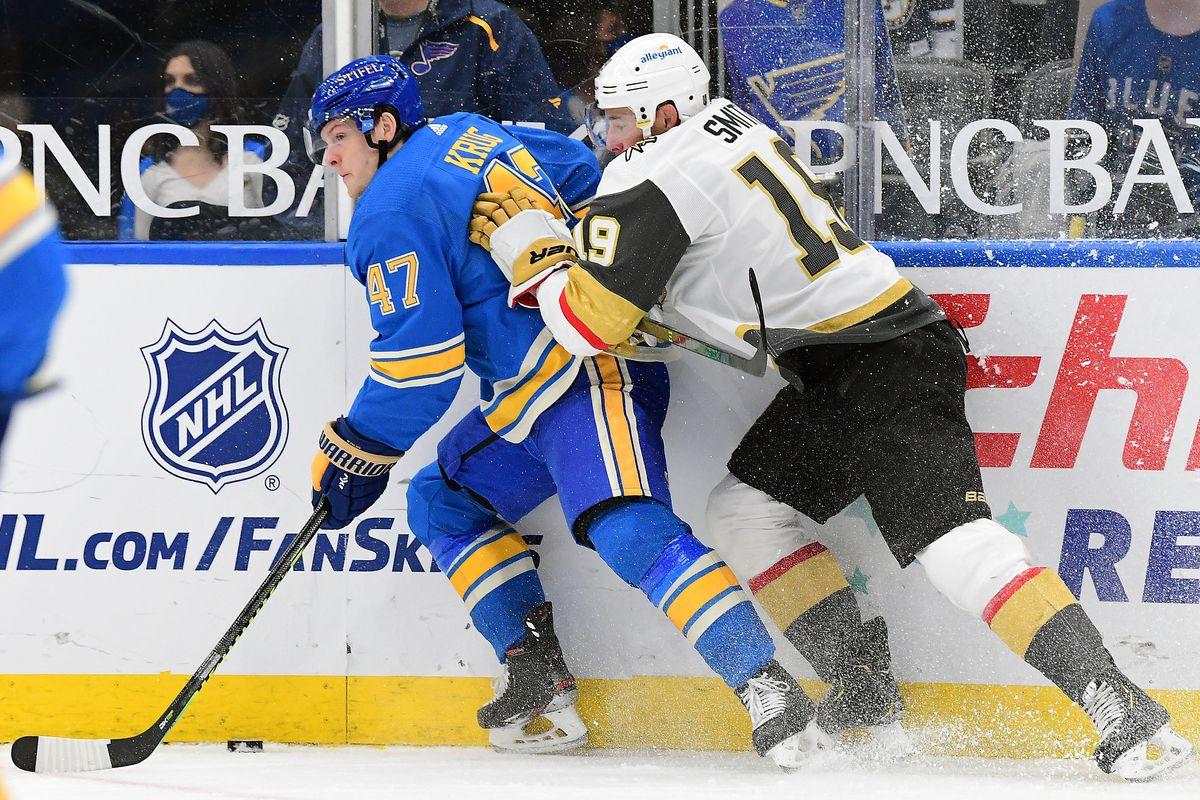 NHL: MAR 13 Golden Knights at Blues