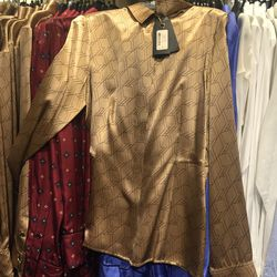 Silk blouse, $100