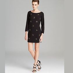"""<strong>Shoshanna</strong> Embellished Front Shift Dress, <a href=""""http://www1.bloomingdales.com/shop/product/shoshanna-embellished-front-shift-dress-meira?ID=830242&CategoryID=2911#fn=spp%3D75%26ppp%3D96%26sp%3D1%26rid%3D%26spc%3D110%26kws%3Dembellished"""""""