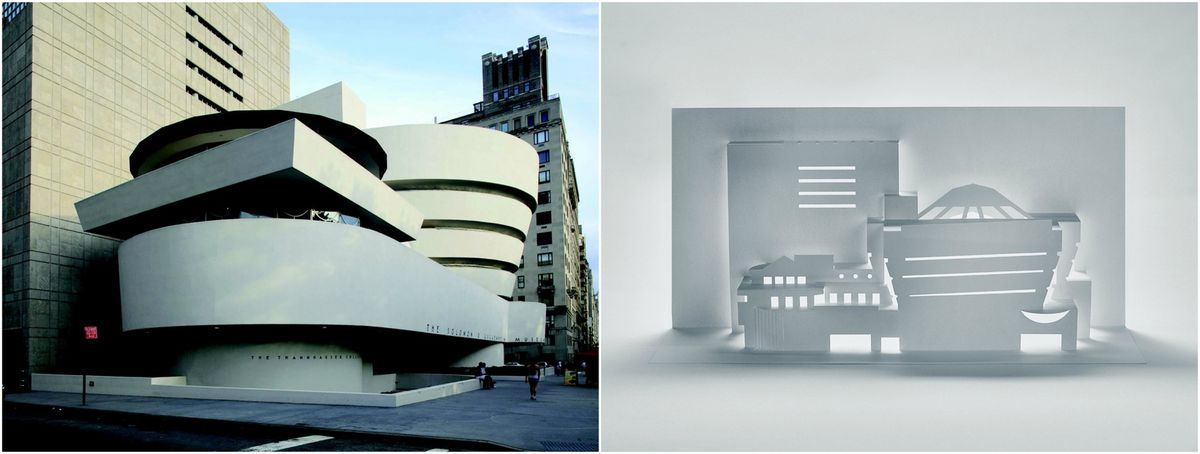 The instructions are paired with removable templates photographs drawings and more information for each building