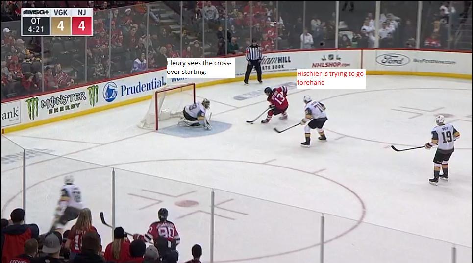 NJ Devils Goal Breakdown  Nico Hischier s Dramatic OT Winner Over ... a66ddf30a