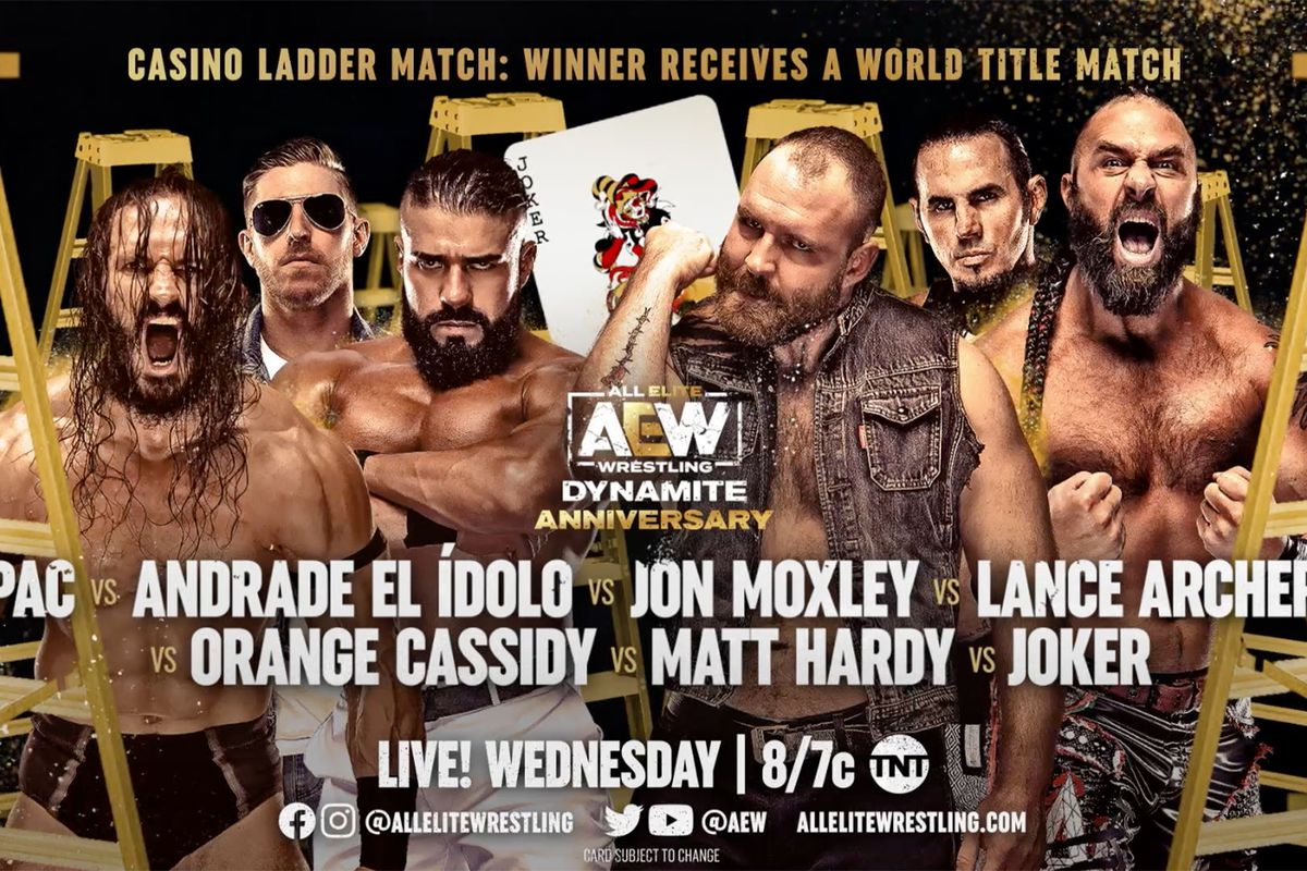 The Casino Ladder match gets a main event star, but not Hangman Page - Cageside Seats