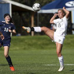 Action in the Murray-Skyline Region 6 girls soccer game in Salt Lake City on Tuesday, Sept. 17, 2019.