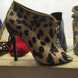 Tom Ford snakeskin peep toe booties, size 5, $990 (was $1,980)