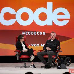 Kara Swisher (Editor at large, Recode), Matthew Levatich (President and CEO, Harley-Davidson)