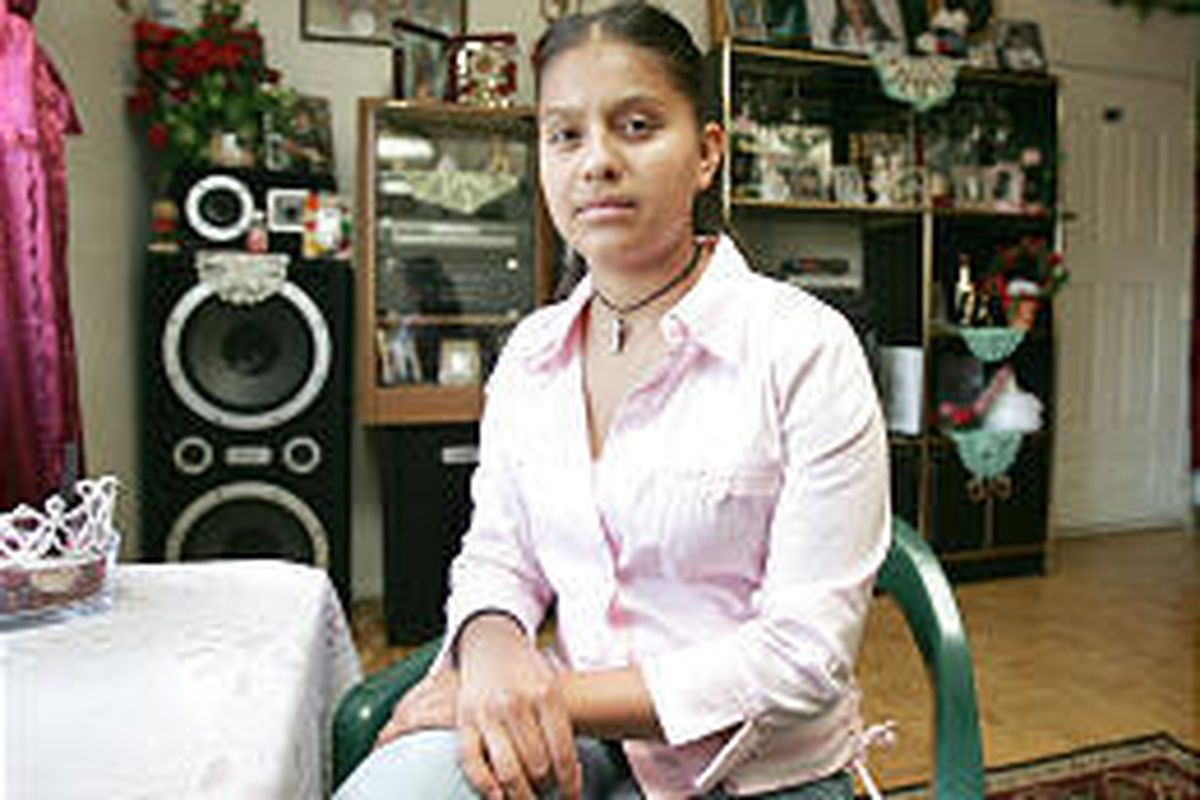 Sindy Manzano had to drop out of school for much of the year and find work to help her family cope with big medical bills.