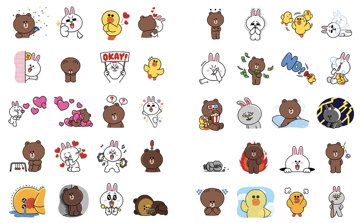 Bilderesultat for LINE stickers