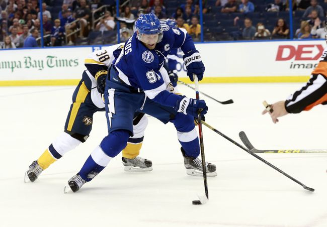 Steven Stamkos has a burning desire to bring Tampa Bay a Stanley Cup Championship. (Courtesy of Kim Klement/USA Today Sports)