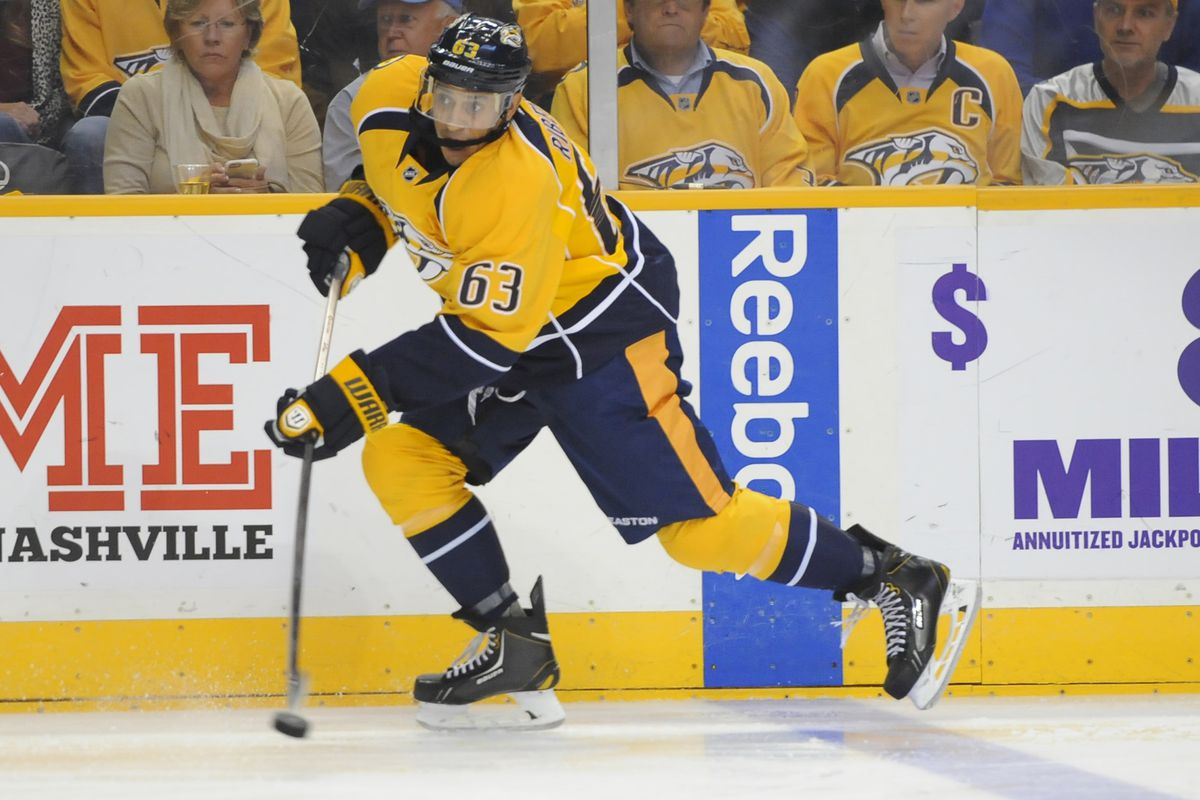 Mike Ribeiro is second in scoring for the Predators with six points (3-3-6) in eight games