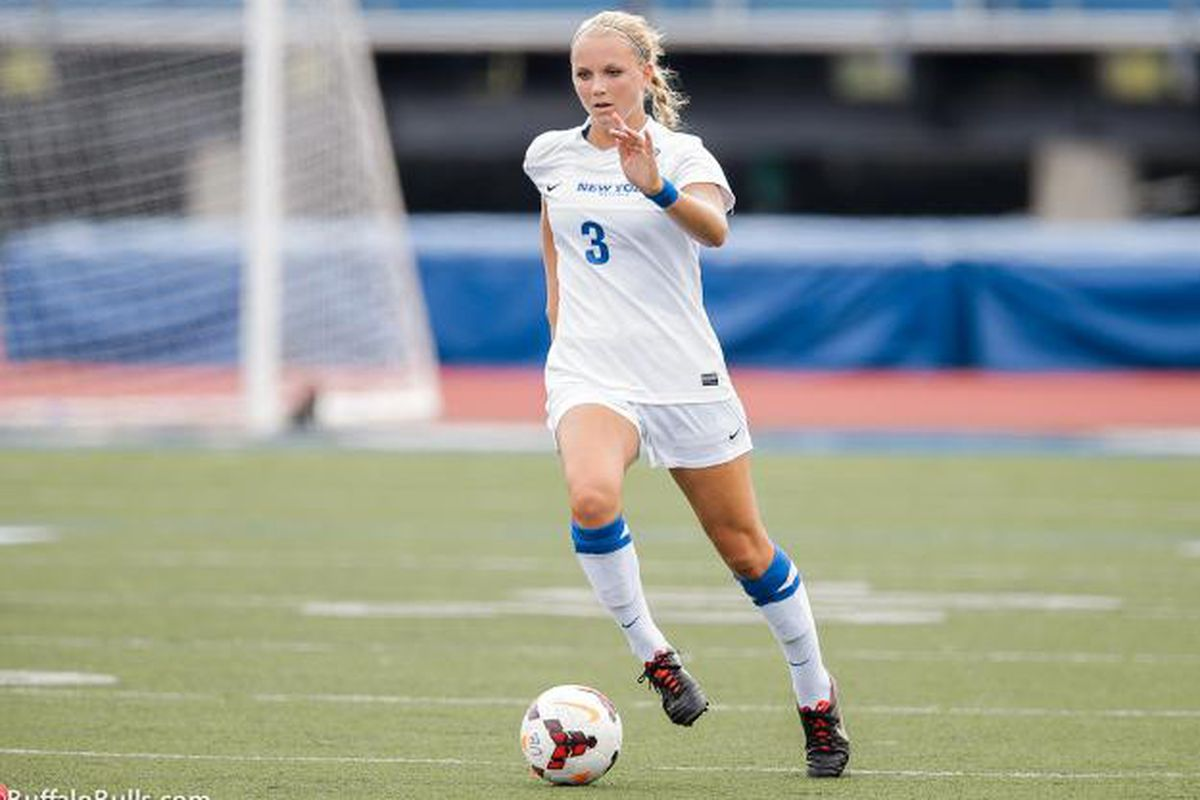 Kristin Markiewicz finished the 2013 soccer season by being named UB Athlete of the Week