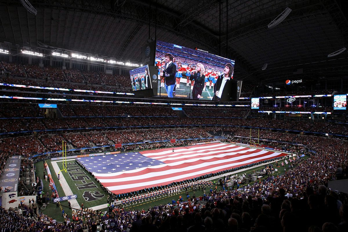 The Cotton Bowl at JerryWorld could become another BCS bowl.  Where would a sixth game be?  (Photo by Ronald Martinez/Getty Images)