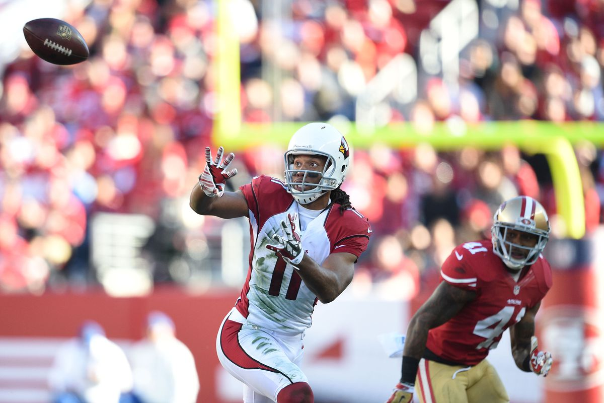 Larry Fitzgerald is looking to climb the power rankings with Palmer back in the huddle.