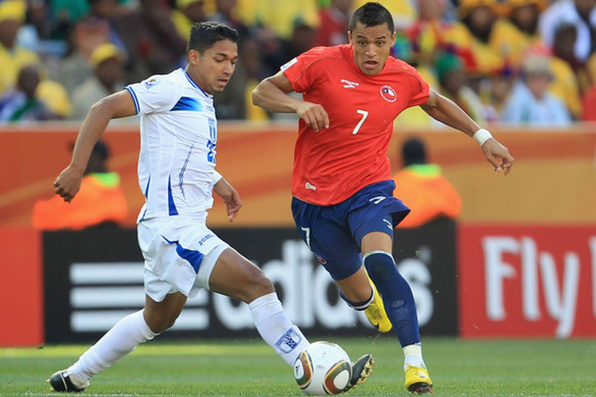 NELSPRUIT, SOUTH AFRICA - JUNE 16:  Add a little heat to your summer day by tuning in to watch Alexis Sanchez and Chile take on the talented Spanish squad. (Photo by David Cannon/Getty Images)
