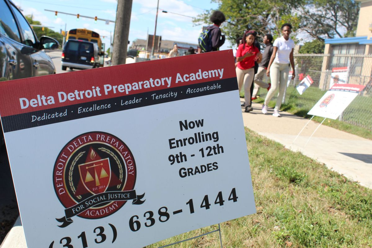 Students at Detroit Delta Preparatory Academy were let out early on Wednesday after learning that their school will close next week.
