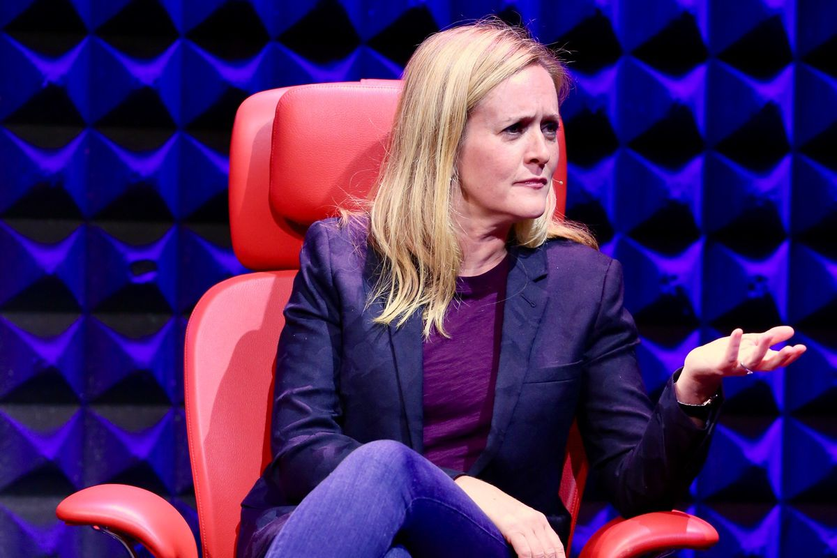 """""""Full Frontal"""" host Samantha Bee at a live taping of Recode Media with Peter Kafka"""