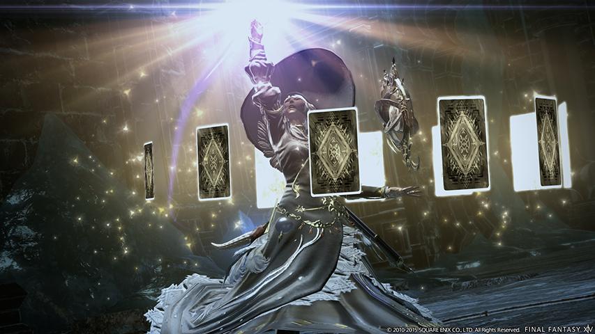 The Astrologian healer job in Final Fantasy 14