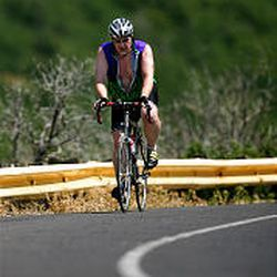 Cyclist Ken Schaecher rides up to the top of Emigration Canyon, a favored route for runners, motorcyclists and bicyclists. Some older residents bemoan the activity.