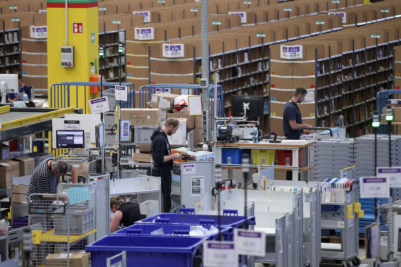 amazon warehouse workers are striking across europe on prime day