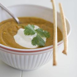 In this image taken on Sept. 17, 2012, a bowl of Roasted Vegetable Soup is shown in Concord, N.H.