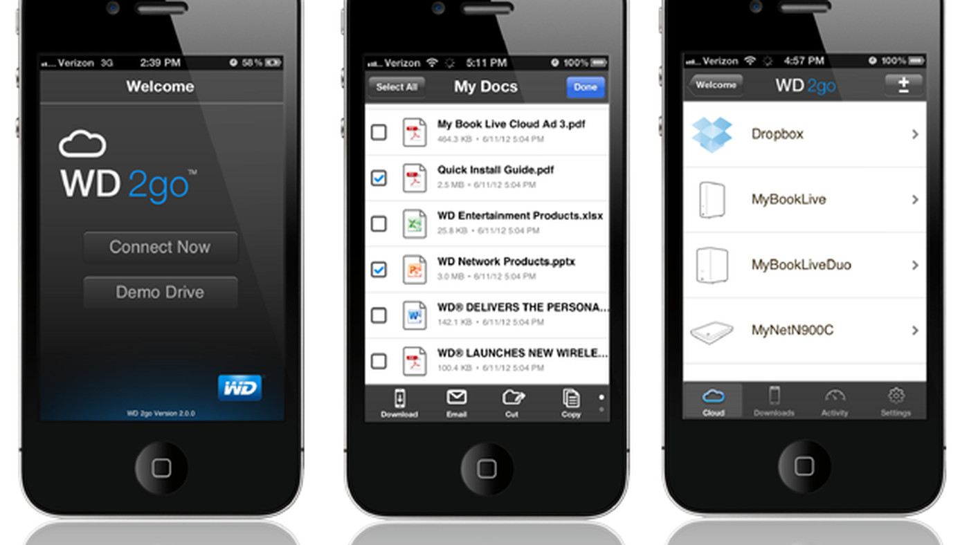 Western Digital's WD 2go app updated to include Dropbox