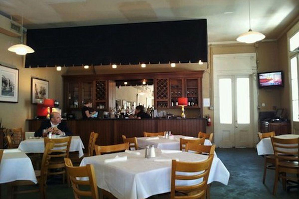 Inside Cafe Roma.