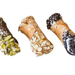 """Cannoli from Mike's Pastry in the North End. <a href=""""http://www.mikespastry.com/mm5/merchant.mvc?Screen=SFNT&Store_Code=644958"""">Order here.</a>"""