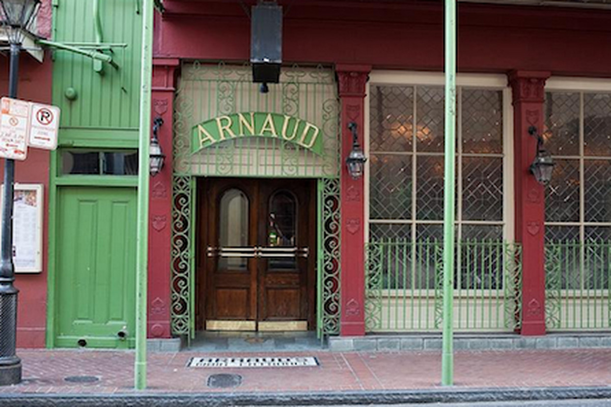 Outside Arnaud's.