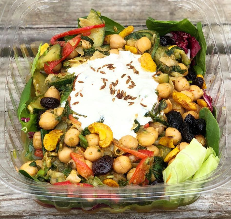 The Delhi salad with curried chickpeas from JuiceLand